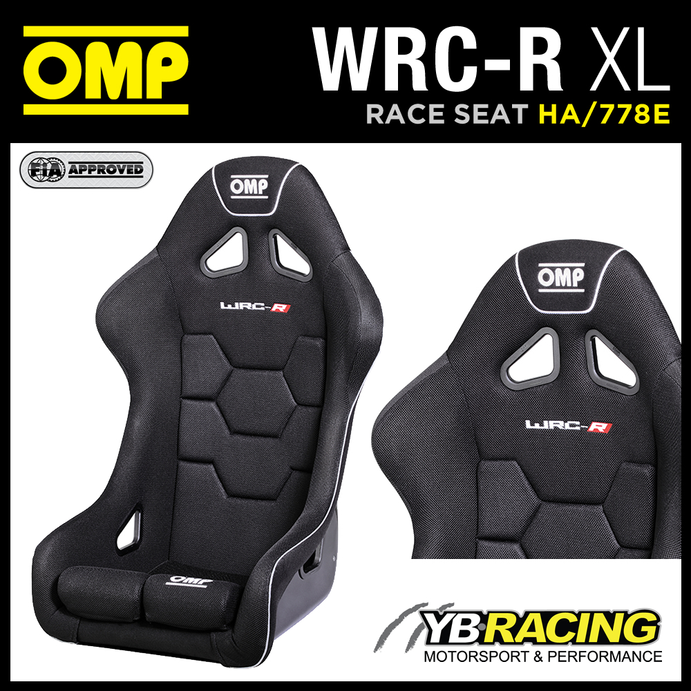 """NEW! HA/778E OMP """"WRC-R XL"""" SPECIAL EXTRA LARGE RACE SEAT FOR THE BIGGER DRIVER"""