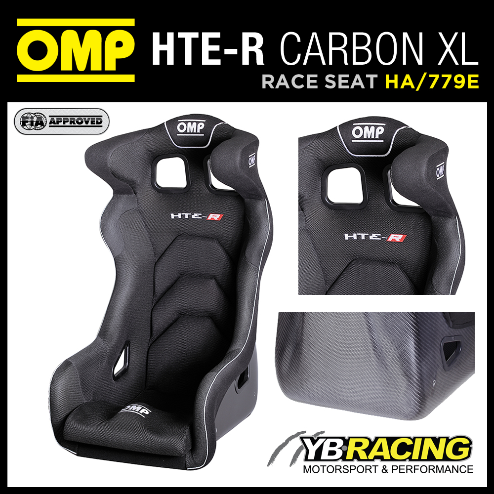 "NEW! HA/779E OMP ""HTE-R CARBON XL"" EXTRA LARGE CARBON FIBRE RACING BUCKET SEAT"