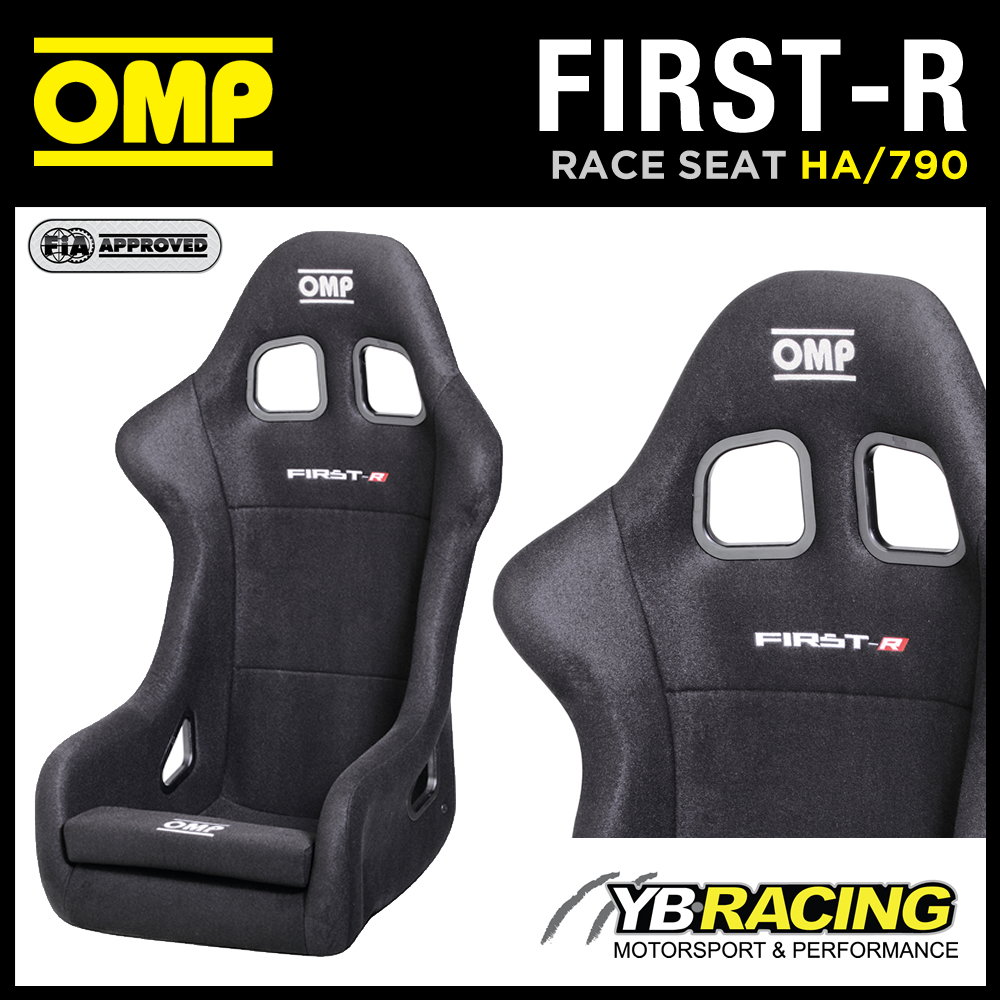 "NEW! HA/790 OMP ""FIRST-R"" ENTRY LEVEL RACING RALLY BUCKET SEAT FIBREGLASS BLACK"
