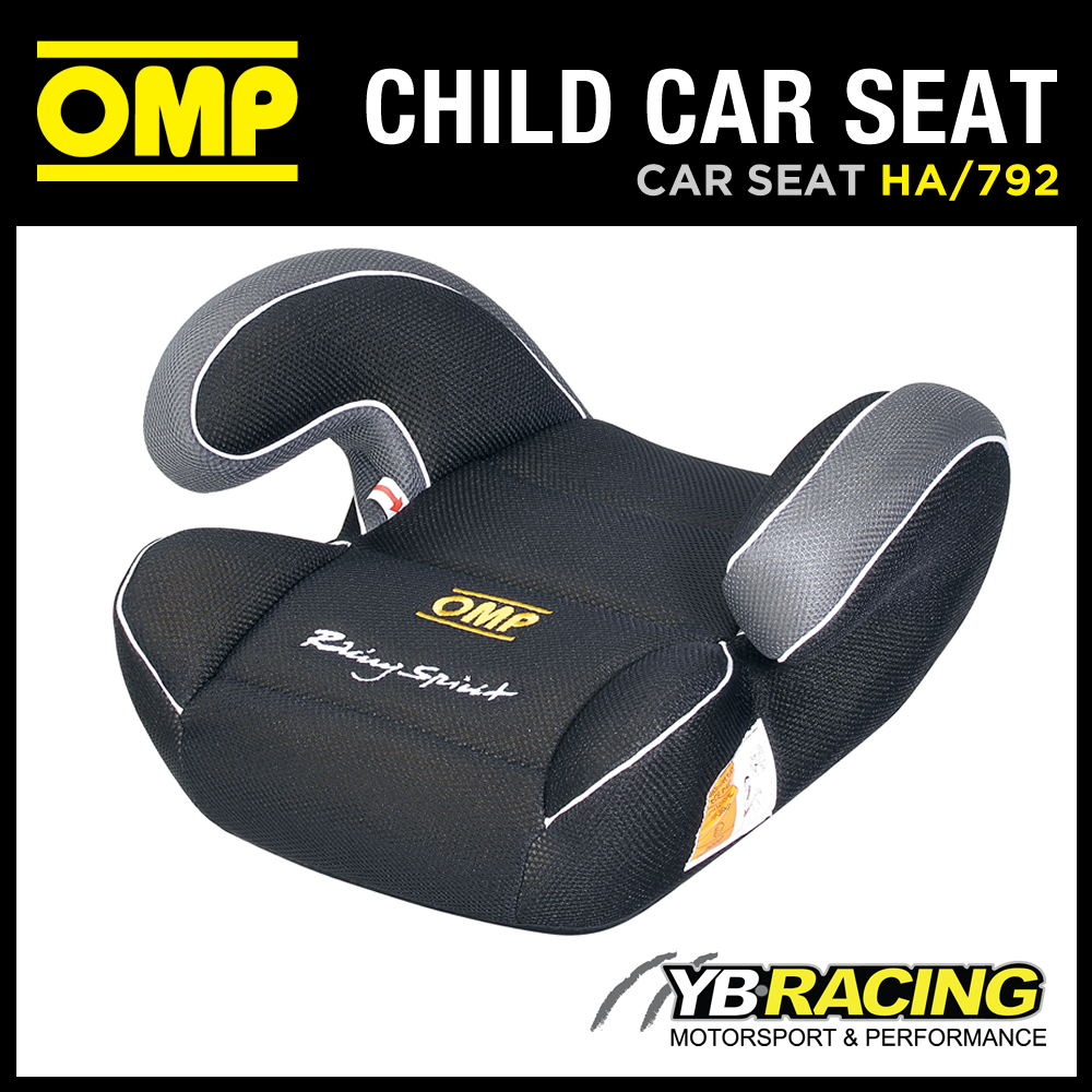 NEW! HA/792 OMP RACING CHILD BOOSTER CAR SEAT BLACK GROUP 2 AND 3 (15 TO 36KGS)