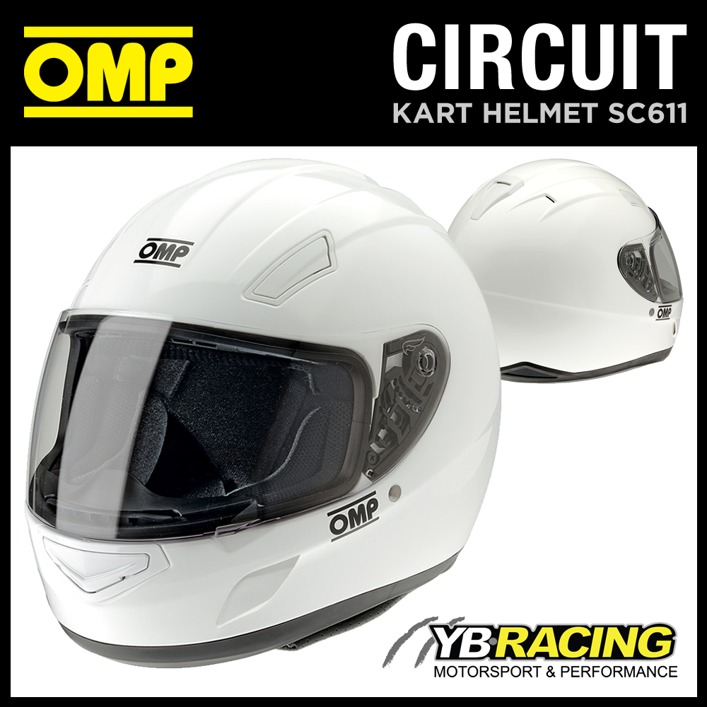 SC611 OMP CIRCUIT HELMET FULL FACE FOR KARTING / TRACK DAY / RALLY / SIZES S-XL