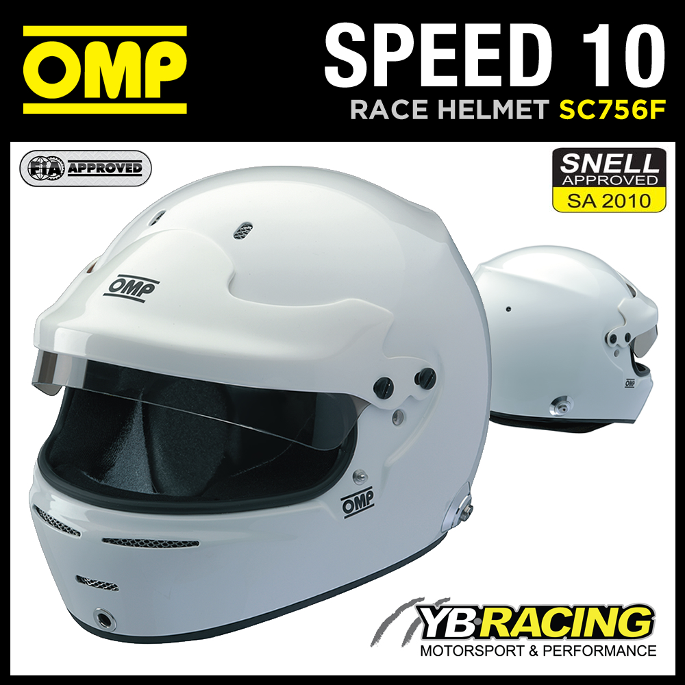 SC756F OMP SPEED 10 HELMET FULL FACE TOURING CAR HELMET SNELL / FIA / FIREPROOF