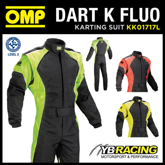 View Item KK01717L DART K FLUO ADULT KART SUIT