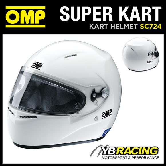 View Item SALE! SC724 OMP SUPER KART KARTING HELMET FIREPROOF BLUE LABEL - LAST FEW LEFT!