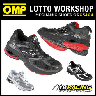 View Item ORC3404 OMP LOTTO WORKSHOP TRAINERS PIT CREW MECHANIC - 2 COLOURS! ALL SIZES!