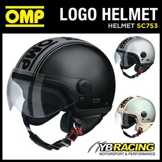 View Item SALE! SC753 OMP LOGO HELMET RETRO COOL DESIGN FOR SCOOTERS / BIKES / MOPEDS