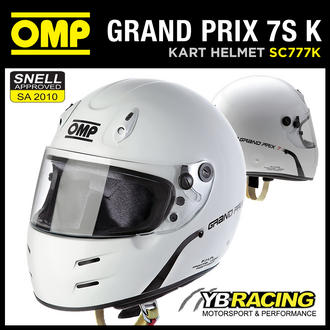 View Item NEW! SC777K OMP GP 7S K HELMET KART KARTING NEW MODERN DESIGN BY OMP SIZES S-XL
