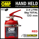 CAB/319/R OMP RED HAND HELD FIRE EXTINGUISHER 2.4L ECOLIFE 130mm DIAMETER 5KG