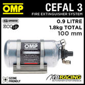 CEFAL3 OMP ULTRA LIGHT FIRE EXTINGUISHER PLATINUM 194mm with 0.9 LITRES ECOLIFE