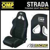HA/750/N OMP ROAD SEAT 'STRADA' RECLINING SPORT BUCKET RECLINER QUICK TILT BLACK