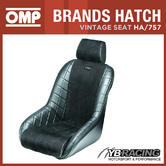 HA/757/N OMP 'BRANDS HATCH' VINTAGE CLASSIC RACE SEAT 1960s STYLE FAUX LEATHER