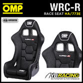 "HA/773E OMP ""WRC-R"" RACING AIRTEX GEL COATED FIBREGLASS BUCKET SEAT BLACK FIA"