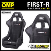 "NEW! HA/790 OMP ""FIRST-R"" ENTRY LEVEL RACING RALLY BUCKET SEAT FIBREGLASS BLACK"