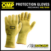 NB/1868 OMP RACING PIT CREW MECHANIC KEVLAR HEAT PROOF LONG GLOVES SIZES S-XL