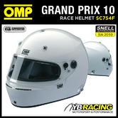 SC754F OMP GRAND PRIX 10 FULL FACE PROFESSIONAL RACING HELMET SNELL / FIA XS-XL