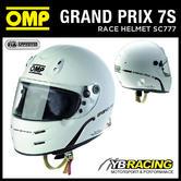 NEW! SC777 OMP GP 7S HELMET FULL FACE FORMULA STYLE / HANS CLIPS / FIA / SNELL