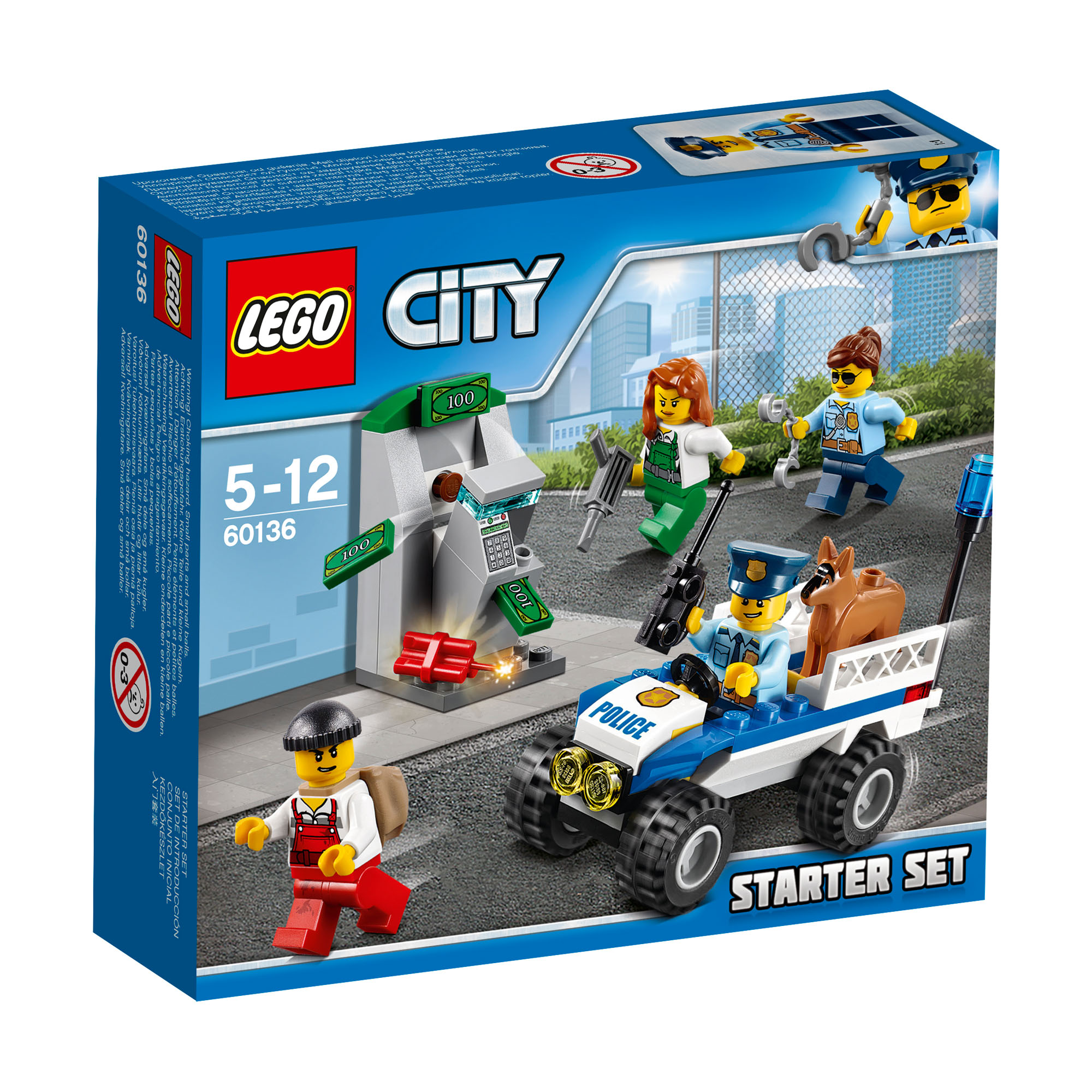 60136 lego city police police starter set 80 pieces age 5 12 new for 2017 ebay. Black Bedroom Furniture Sets. Home Design Ideas