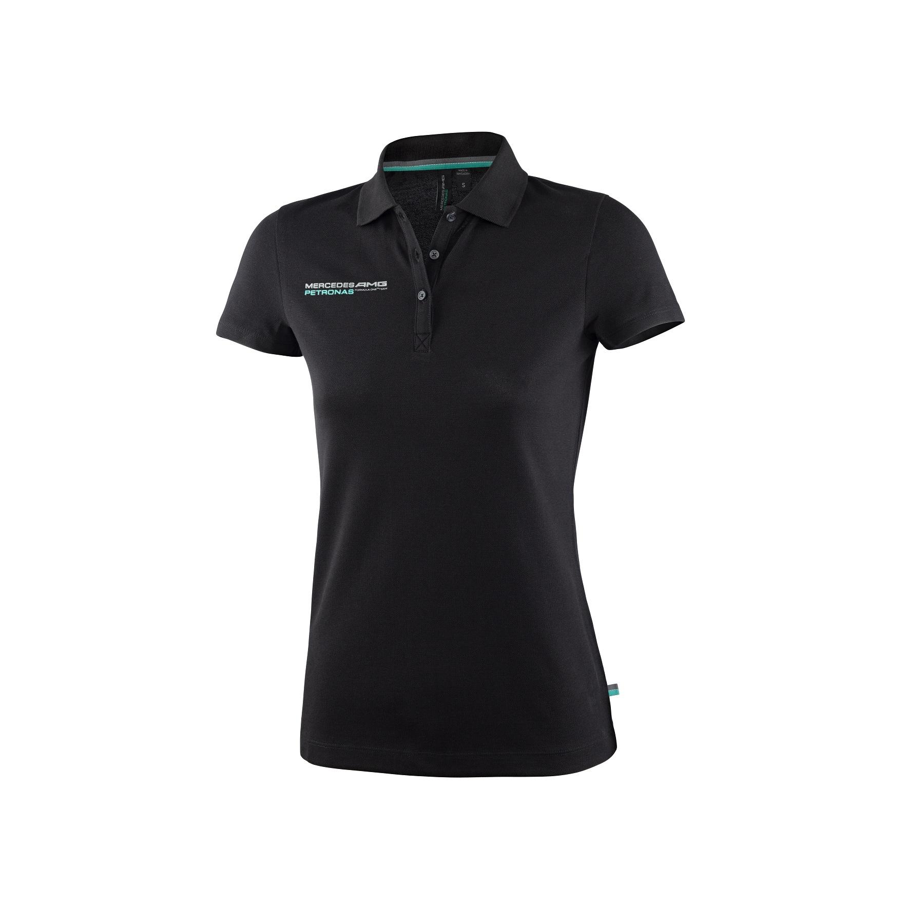 sale mercedes amg formula 1 f1 team ladies slim fit polo shirt black womens ebay. Black Bedroom Furniture Sets. Home Design Ideas