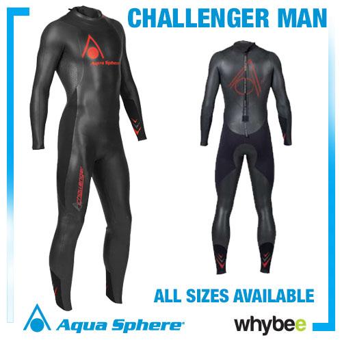 Aqua Sphere Mens Challenger Triathlon Wetsuit Swimming - All Sizes! Preview
