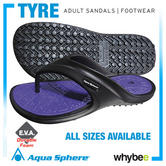 New! Aqua Sphere 'Tyre' Adult Sandals Flip Flops Beach Pool Leisure - All Sizes!