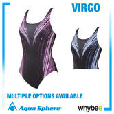 Aqua Sphere Virgo Womens Swim Suit Aqua Infinity Ladies Swimwear All Sizes