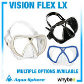 New! Aqua Lung Vision Flex Lx Swimming Mask Snorkelling Diving Swim Holidays