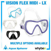 New! Aqua Lung Vision Flex Midi Lx Snorkel Mask - Smaller Size For Children Kids