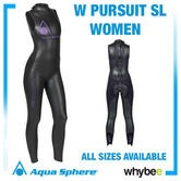Aqua Sphere Ladies Womens Pursuit Sl Sleevelss Triathlon Wetsuit Swimming