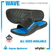 New! Aqua Sphere 'Wave' Adult Sandals Flip Flops Beach Pool Leisure - All Sizes!
