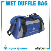 Aqua Sphere Wet Dry Duffle Bag Swimming Bag - Durable Nylon Swim Bag - Blue Grey