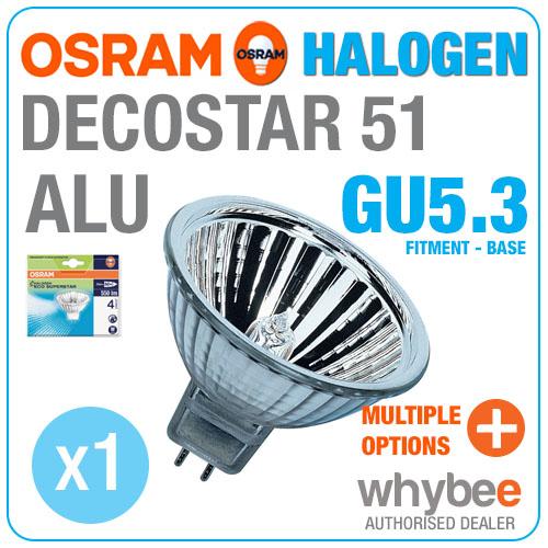 new osram decostar 51 alu halogen 20w to 50w gu5 3 mr16 halogen spot light bulb ebay. Black Bedroom Furniture Sets. Home Design Ideas