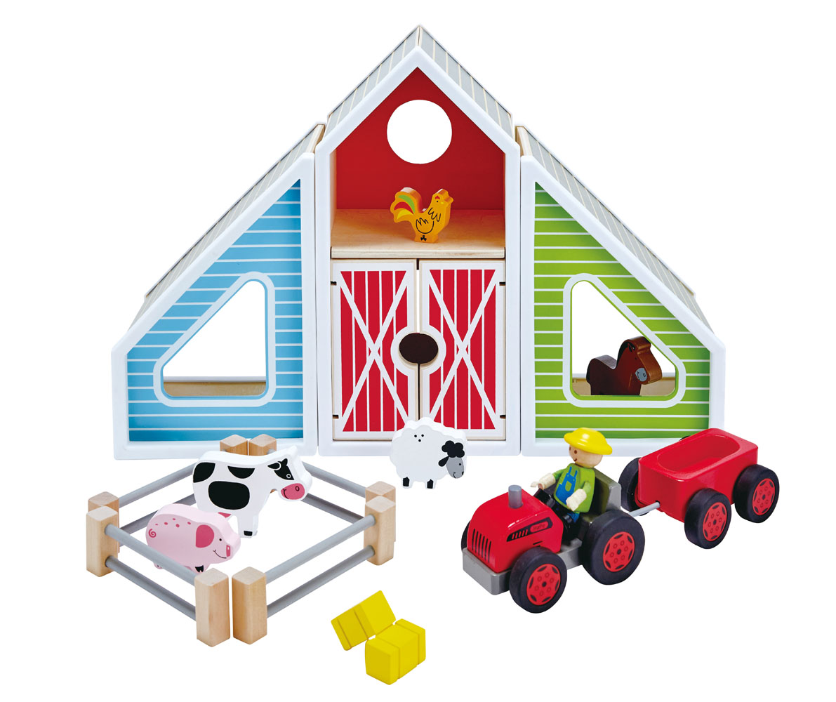 Farm Toddler Toys Age Two : E hape barn play wooden farm set playscapes toddler