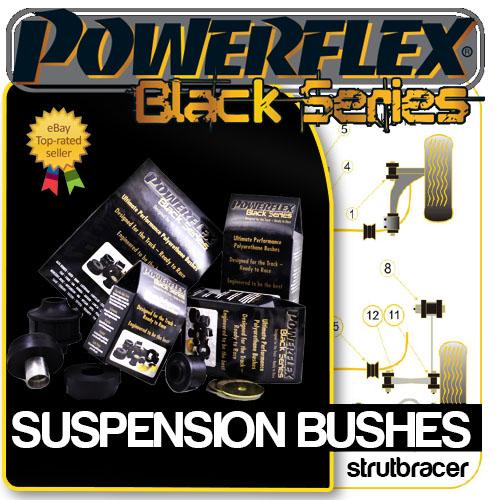 Mini 02-06 Cooper S POWERFLEX BLACK Rear Arm Fr Bush Inserts PFR5-110BLK