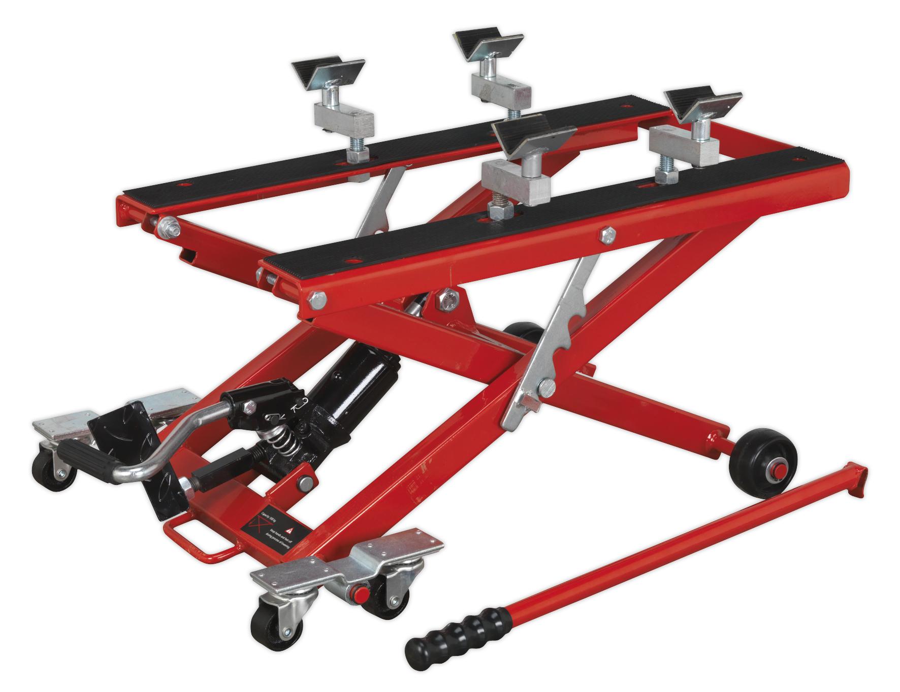 Hydraulic Motorcycle Lift : Mc sealey motorcycle quad scissor lift kg