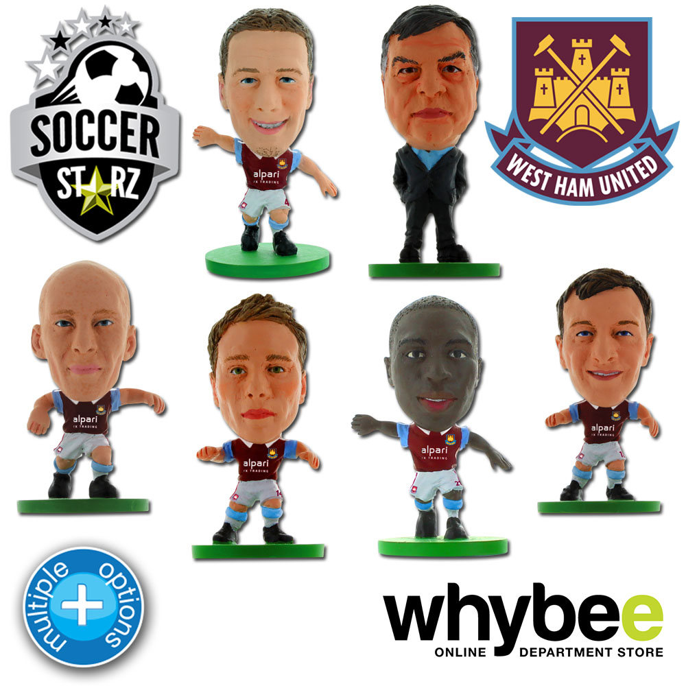 WEST HAM UNITED FC SOCCERSTARZ FOOTBALL FIGURES - OFFICIAL SOCCER STARZ NEW