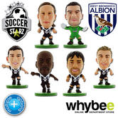 WEST BROM FC SOCCERSTARZ FOOTBALL MODEL FIGURES -OFFICIAL BAGGIES SOCCER STARZ