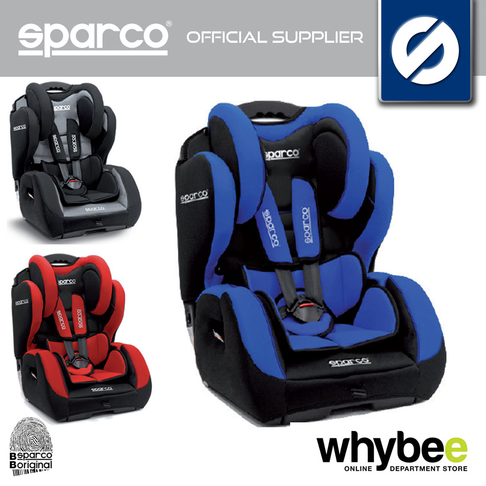 NEW! SPARCO F700 K KID CHILDS CAR SEAT GROUP 1 2 3 AGES