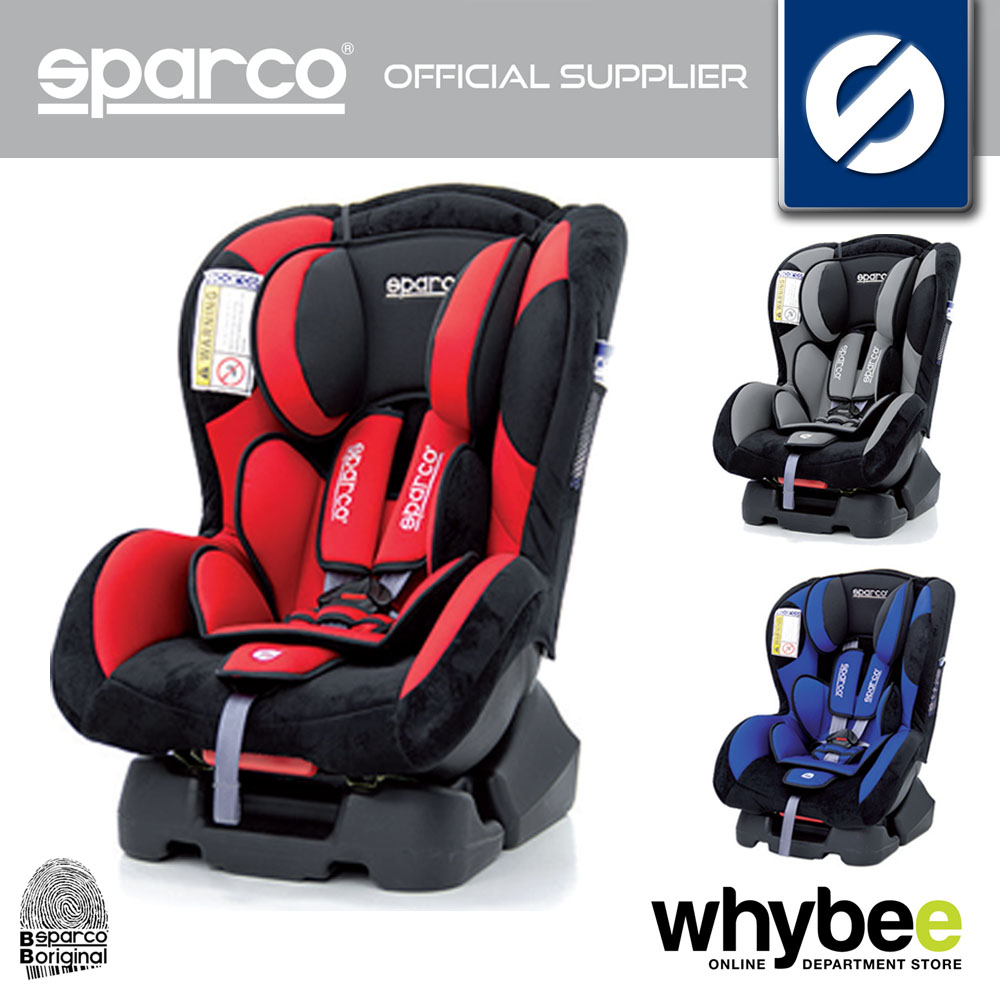 NEW! SPARCO F500 K CHILD BABY CAR SEAT GROUP 0+ 1 AGE 0 to 4 yrs - 3 COLOURS!