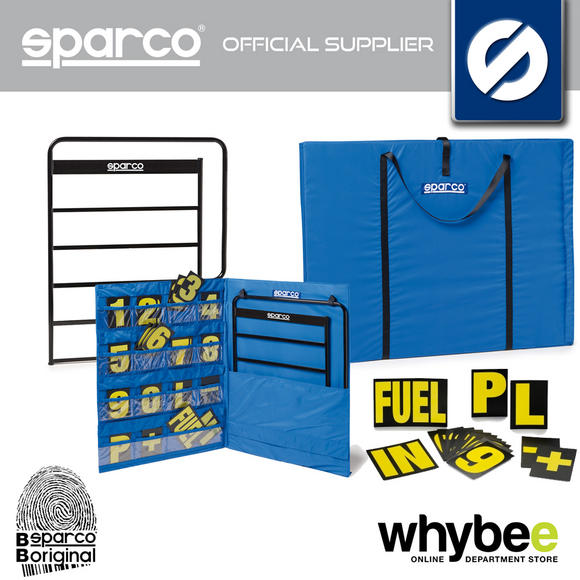 Sparco Racing Karting Pit Board Range - Pit Board / Carry Bag / Numbers / Frame Preview