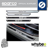 Sparco Sill Guards Sports Accessory For Road Cars - Silver / Carbon Look / 3D