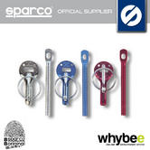 Sparco Racing Rally Bonnet Pins (Pair) Hood Pins Aluminium - Blue / Red / Silver