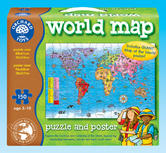 Orchard Toys 280 World Map Puzzle & Poster Kids Childrens Jigsaw 5-10 Years