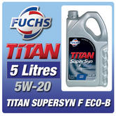 New! Fuchs Titan Supersyn F Eco-B 5W-20 (5 Litres) For Ford Ecoboost Engine Oil