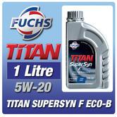 New! Fuchs Titan Supersyn F Eco-B 5W-20 (1 Litre) For Ford Ecoboost Engine Oil