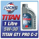 Fuchs Titan GT1 Pro C-2 1 Litre 5W-30 Engine Oil Peugeot Citroen Turbo Approved