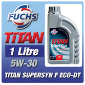 New! Fuchs Titan Supersyn F Eco-Dt 5W-30 1 Litre Ford Duratorq Diesel Engine Oil