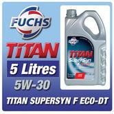 New! Fuchs Titan Supersyn F Eco-Dt 5W-30 5 Litre Ford Duratorq Diesel Engine Oil