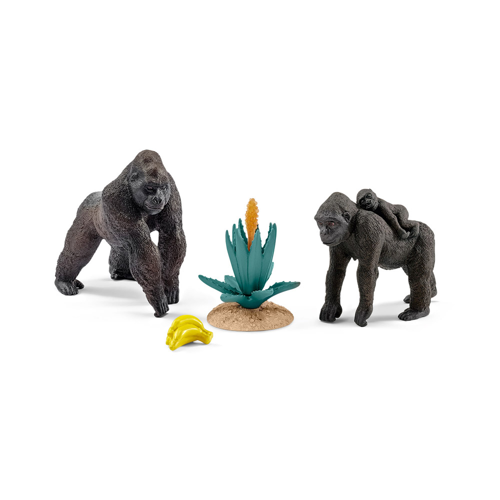 Schleich world of nature africa accessories animal toys figures figurines - Gorilla figurines ...