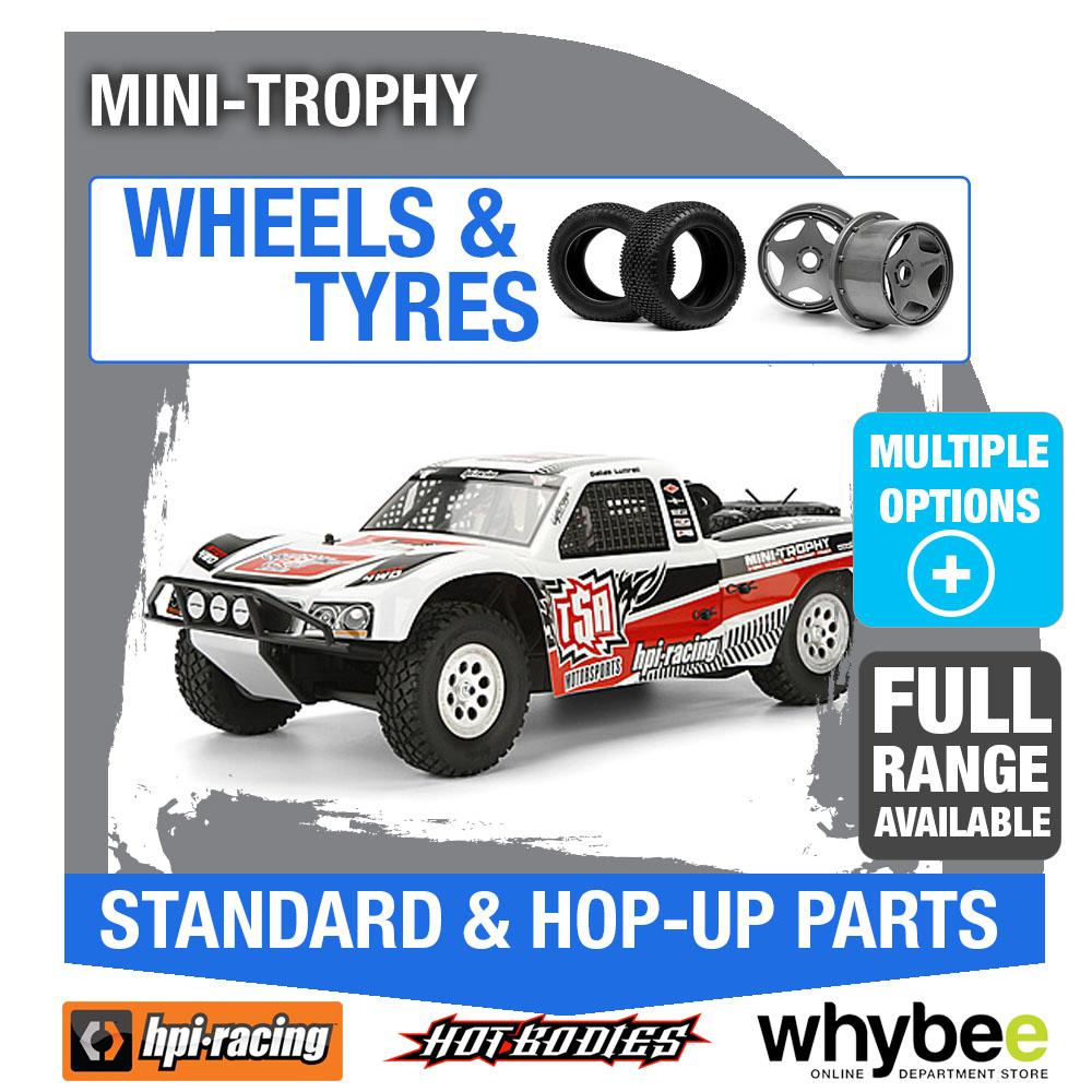 hpi mini trophy 4wd truck wheels tyres genuine hpi racing r c parts ebay. Black Bedroom Furniture Sets. Home Design Ideas