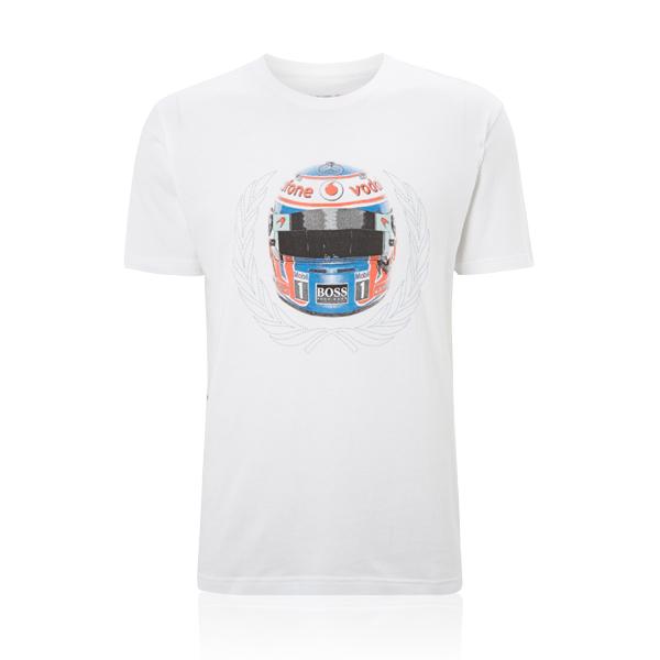 Sale mclaren mercedes f1 jenson button helmet mens t for Mercedes benz t shirts sale